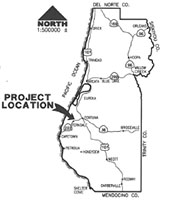 Project is located on Francis Creek near community of Fortuna