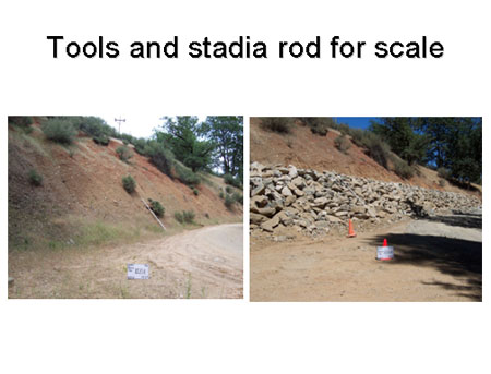 Use tools or items to indicate scale